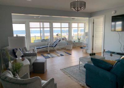 Floor 1- Living Room with Ocean View Windows